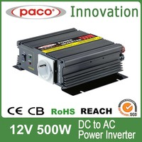 Solar panel inverter 500W,Off grid 12V DC to 220V/110V AC,with CE CB ROHS certificate