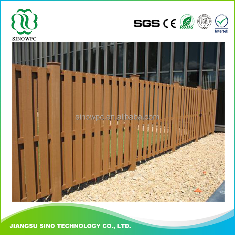 Morden decorative new co-extrusion wood plastic composite garden fence