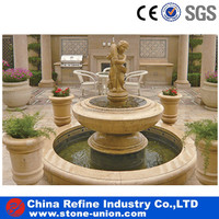 Yellow 3 tiers decorative large outdoor water fountain