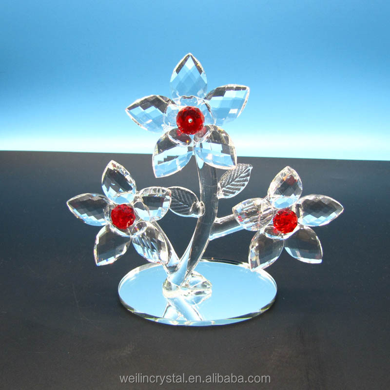 wholesales new creative crystal glass flower for wedding gifts