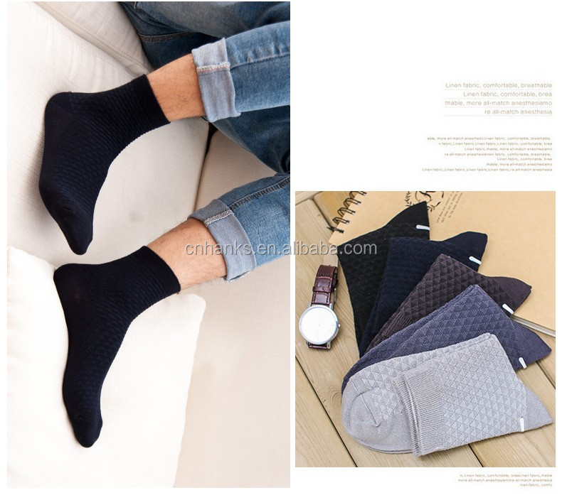 man socks Cotton Business Dress Black Socks Men