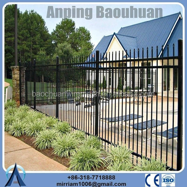2015 welded galvanized and powder coated wrought iron fence