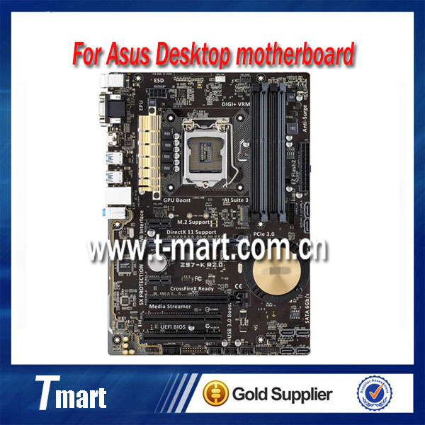 100% working desktop motherboard for Asus Z97-K R2.0 1150 DDR3 mainboard all fully tested