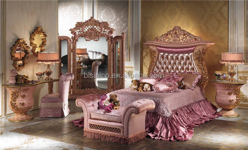 Italian Luxury Design Children Bedroom Furniture Set,Elegant Pink Princess  Bedroom Set,Latest Ornate Design Wooden U0026 Brass Bed   Buy Luxury Royal  Children ...  Princess Bedroom Set