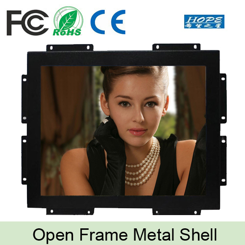 Industrial touch panel monitor 15 inch open frame VGA HD square screen display