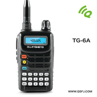 5W vhf uhf handy radio walkie talkie QuanSheng TG-6A long distance walike talkie