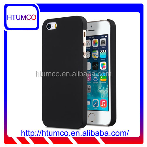 Fashion Black PC case rubber mobile phone case for Apple iPhone SE / 5S / 5