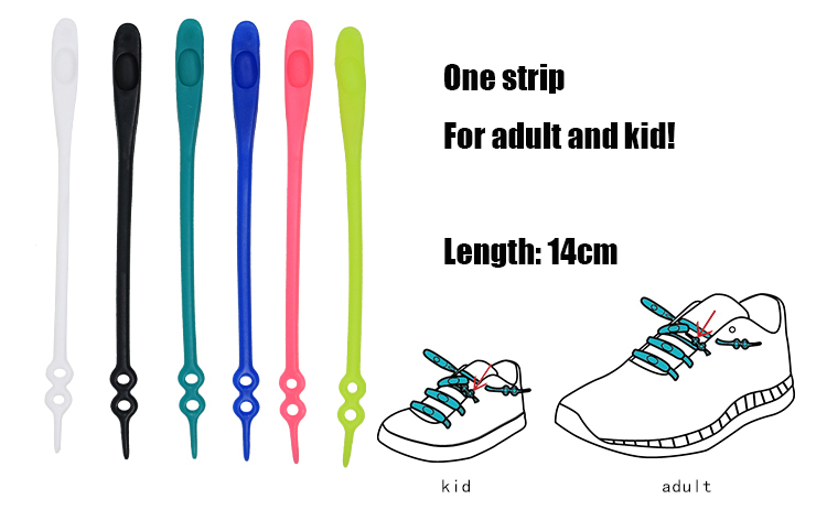 Multi color lazy  no tie shoelaces custom logo printed silicone shoe laces