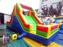 colorful peak shape customized size inflatable mega dry slide for kids and adults