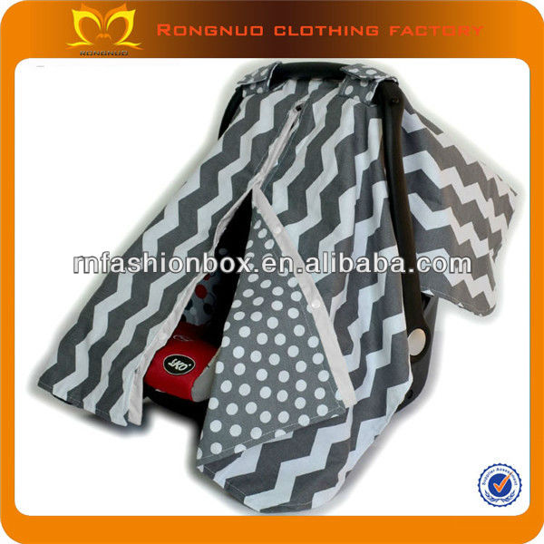 New design infant car seat covers grey chevron washable replacement baby seat covers