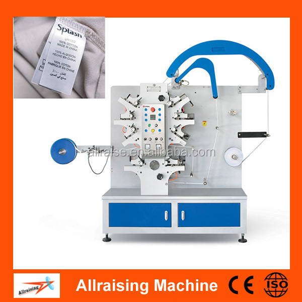 Satin Tape Flexo Label Printing Machine/Garment Label Printing Machine (front 6 back 2 colors)