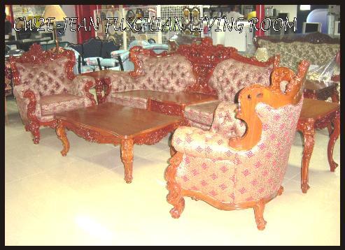 Jean Fuschian Sofa Set