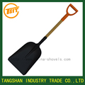 pala big wooden handle snow coal spade shovel