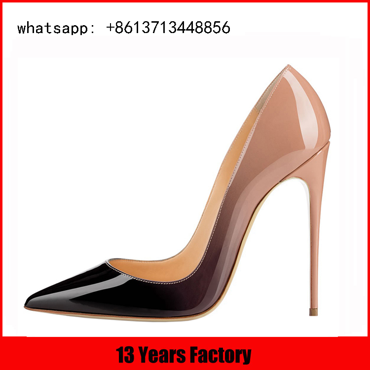 Trendy Color and elegant pointed toe design for women stilettos high heel shoes