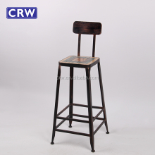 RE-1634 Reataurant Bar Stools Industrial Iron Stool Vintage Bar Chair
