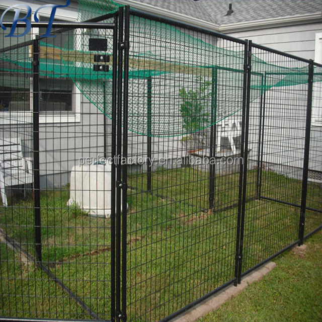 Iron dog cage wholesale heavy duty large outdoor dog kennel factory direct