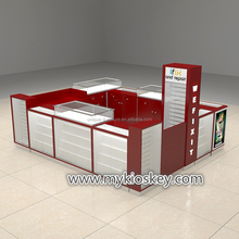Retail mobile phone display cabinet and mall kiosk for mobile phone