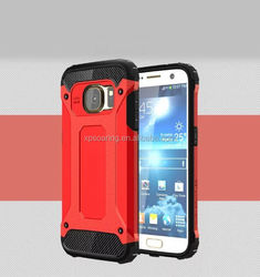 Heavy duty hybrid phone case for Samsung Galaxy S7 edge, 2 in 1 shockproof case for Galaxy S7 edge