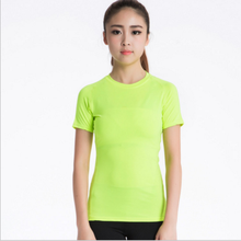 Fashion women sport t shirts latest style women running wear fancy fluorescence green sport wear