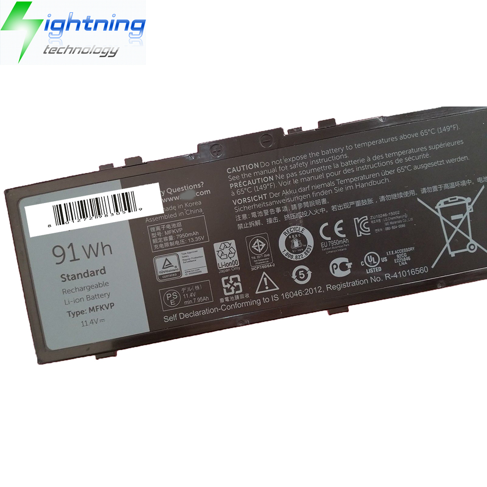 17 7710 91WH 11.4V Battery RDYCT 0RDYCT New Genuine Dell Precision 15 7510