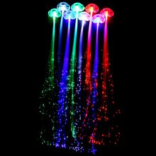 Led Light Braid Christmas Party Novelty Decoration led hair Extension by Optical Fiber Halloween Concert Birthday Toy