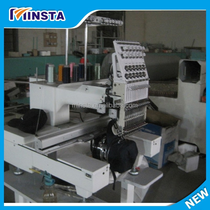 24 head flat embroidery machine/machine embroidery bed sheets
