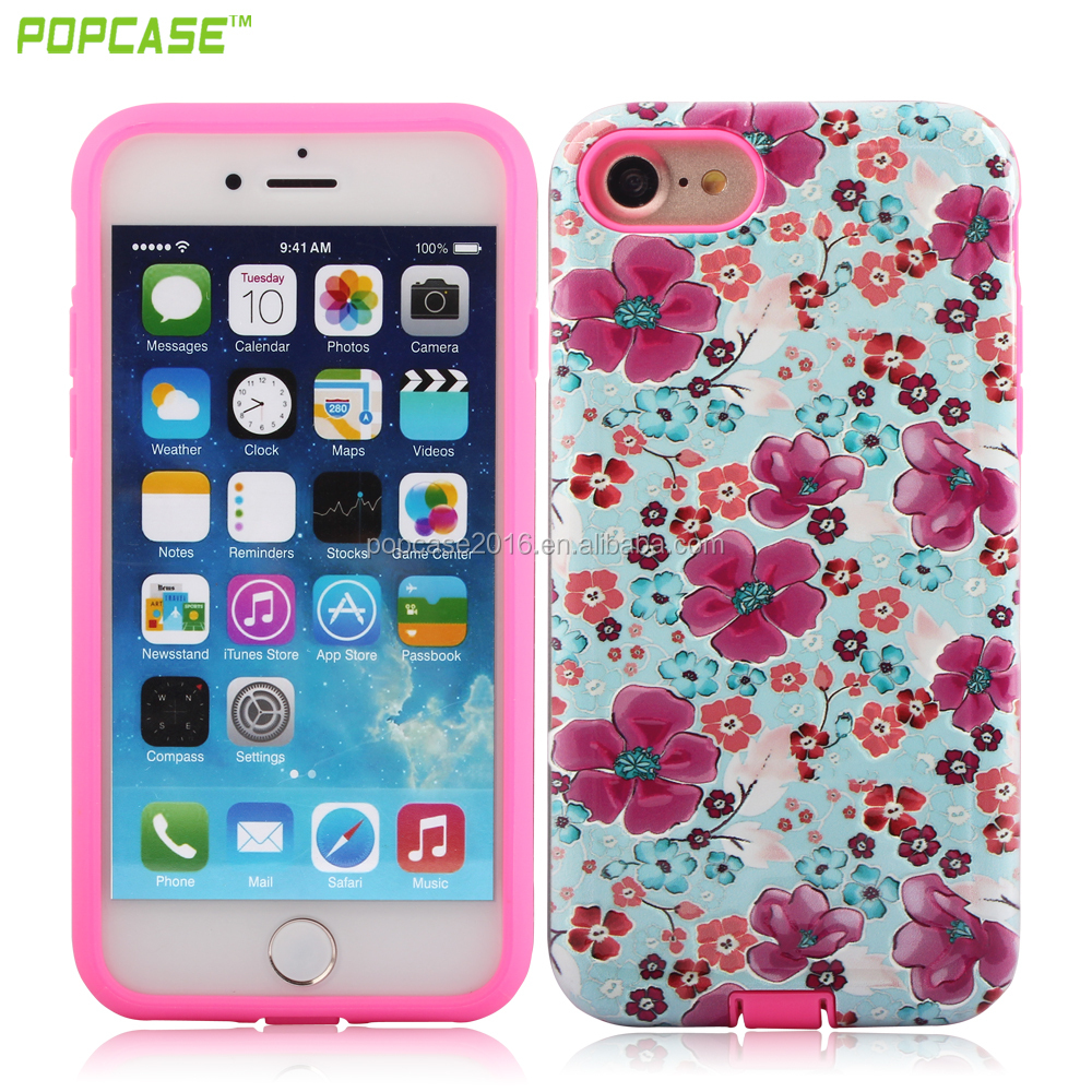 Anti-shock Plum TPU 2 in 1Ultra smooth Mobile Phone case for Iphone7 In Promotion