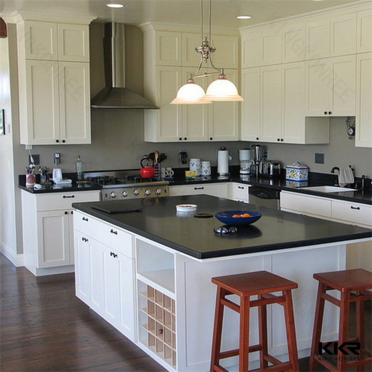 Kingkonree customized wholesale solid surface prefab kitchen islands