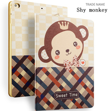 Shy Monkey Painting Case for iPad Mini 4, for ipad Covers, for iPad 8 inch Case