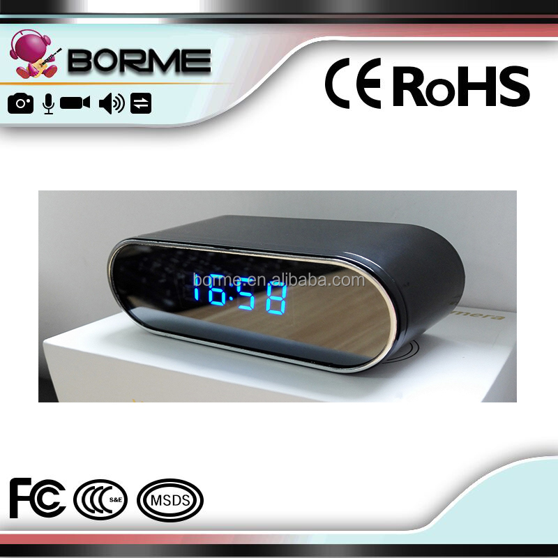 1080p 720p HD Spy Clock Camera can connect <strong>wifi</strong> to do real time monitoring