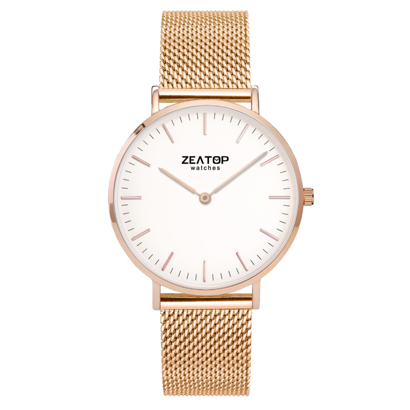 Fashion Square Stainless Steel Female Gold Watches
