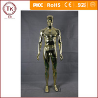 Fashion retail clothing store window display male Electroplating mannequin