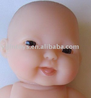 Plastic reborn doll head;Vinyl baby doll head and hands