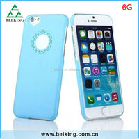 Factory price for iPhone 6 solid candy color plastic cover back case