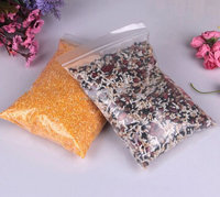 Plastic transparent polythene food storage ziploc bags