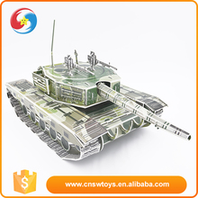 Stimulate interest in children hands main battle tank model 3d mini colorful paper puzzle