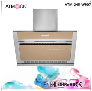 3 speed touch switch 900mm commercial range hood with square chimney