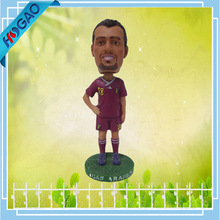 Good quality custom resin palyer bobble head for sale