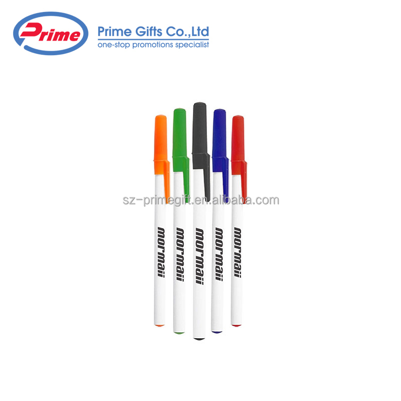 Promotional Simple Style Plastic Pen Stick Ball Point Pens