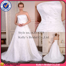 Small A line skirt Bateau neckline Floor length of wedding dresses for big women