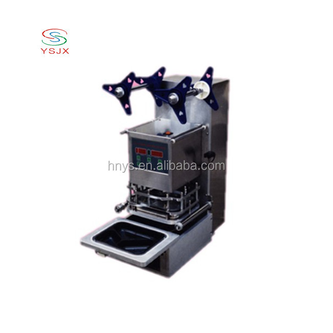 factory price semi automatic plastic food container/tray sealer for sale