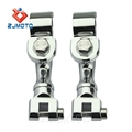 "Zjmoto Hot Selling Chrome Aluminum Motorcycle Footrest Clamp Fits All 1 1/2"" (38mm) Engine Guard / Tubing"