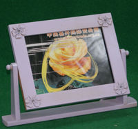 New design beautiful wood photo frame with stand base