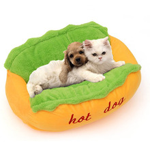 Hot Dog Design Pet Dog Bed ,Removable and Washable Pet Mat Dog House