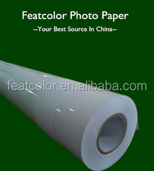 Waterproof Cast Coated Glossy Inkjet Large Format Photo Paper Roll