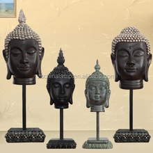 Wholesale Hand Carved Resin Buddha Heads With Large Resin Buddha Statue Indian And Thailand Buddha Statue For Sale decoration
