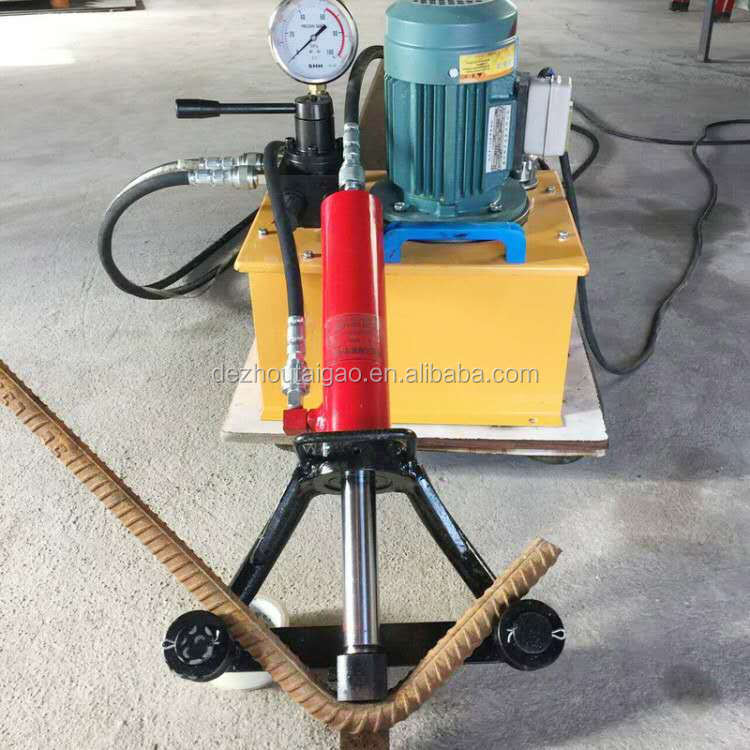 WJ-40 range 25-40mm electric steel bar bending machine portable rebar bender
