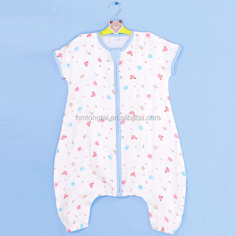 70% bamboo 30% cotton infant baby straddle sleeping bag for summer