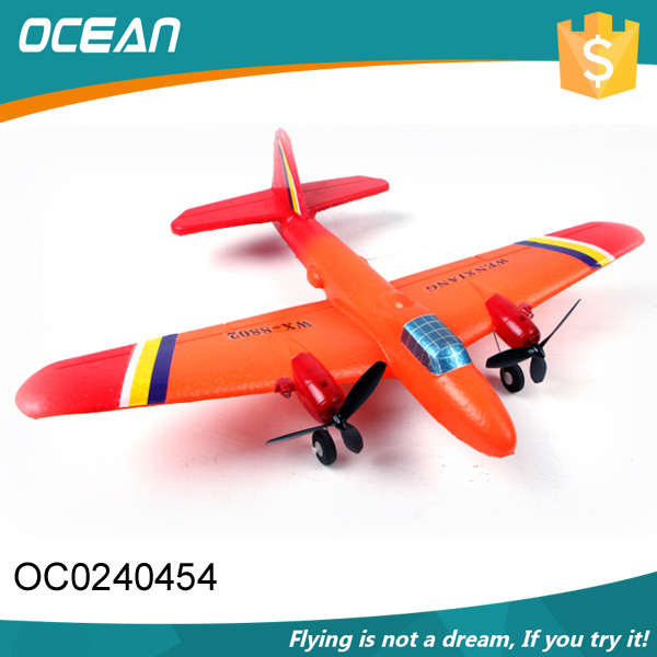 2 Channel remote control toy foam flying glider plane for kids