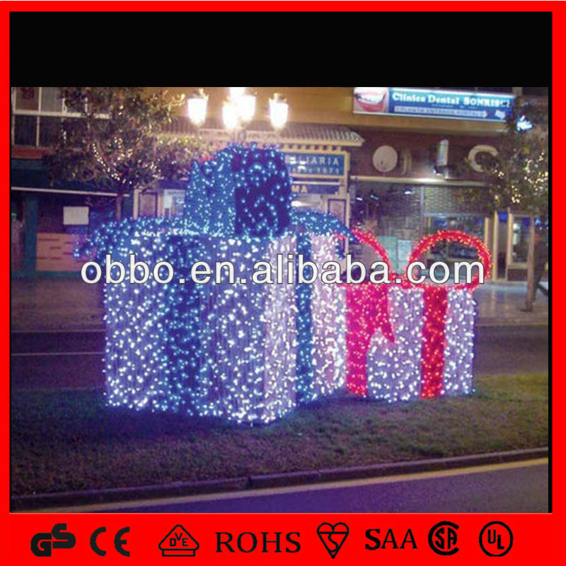 2014 outdoor decorative led sign 3d light box